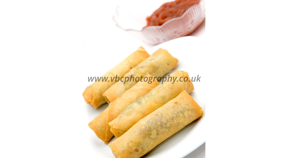 Product Photography - Food Photographer - Spring Rolls